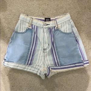urban outfitters bdg striped shorts